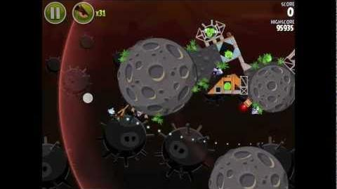 Angry Birds Space Danger Zone Level 24 Walkthrough 3 Star