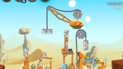 Angry Birds Star Wars 2 Level B2-8 Escape To Tatooine 3 star Walkthrough