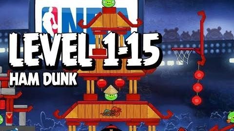 Angry Birds Seasons Ham Dunk 1-15 Walkthrough 3 Star