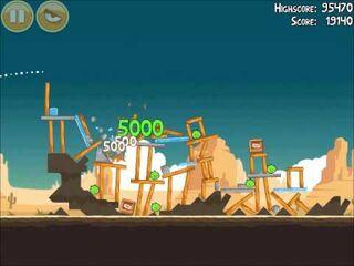 Official Angry Birds Walkthrough Ham 'Em High 14-9