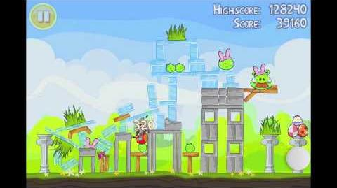 Angry Birds Seasons Easter Eggs Level 5 Walkthrough 3 Star