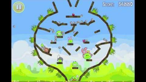"Angry Birds Seasons Easter Eggs Golden Egg 9 Walkthrough ""Big Egg"""