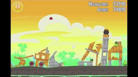 Angry Birds Seasons Go Green, Get Lucky 3 Star Walkthrough Level 3