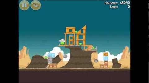 Angry Birds Ham 'em High 12-7 Walkthrough 3 Star