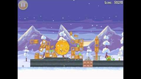 Angry Birds Seasons Wreck the Halls Golden Egg 29 Walkthrough Christmas 2012