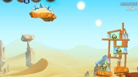 Angry Birds Star Wars 2 Level B2-2 Escape To Tatooine 3 star Walkthrough