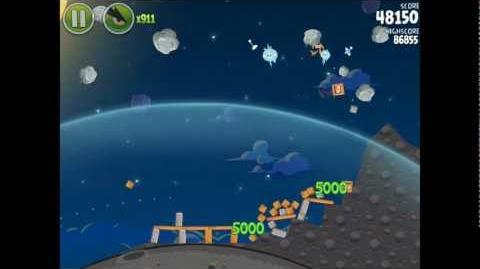 Angry Birds Space Pig Bang 1-19 Space Eagle Walkthrough