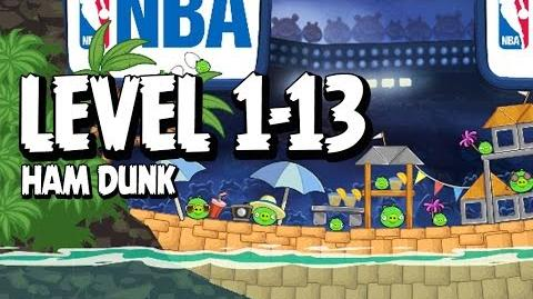 Angry Birds Seasons Ham Dunk 1-13 Walkthrough 3 Star