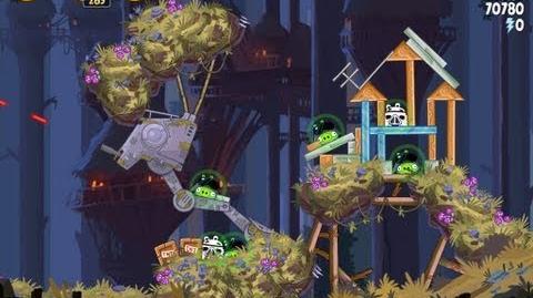 Angry Birds Star Wars 5-21 Moon of Endor 3 Star Walkthrough