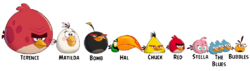 Angry Birds By Sizes (Toons)