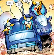 Angry Birds Transformers Issue 3 Bluestreak's Vehicle Mode