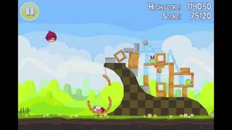 Angry Birds Seasons Easter Eggs Level 2 Walkthrough 3 Star