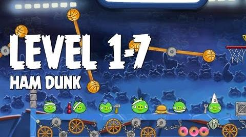 Angry Birds Seasons Ham Dunk 1-7 Walkthrough 3 Star