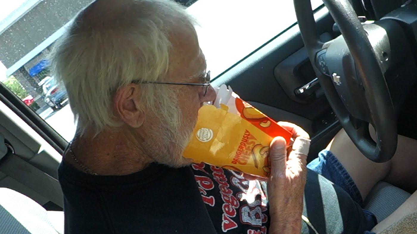 Angry Grandpa HATES Burger King Mac N\' Cheetos!   Angry Grandpa ...