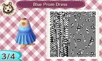 Blue Prom Dress 3/4