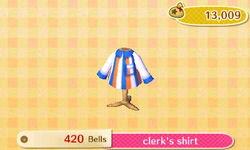 Clerk shirt ACNL