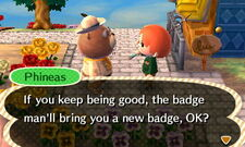 Phineas' Badge Given Dialogue