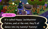 Dotty ACNL Excited Emotion