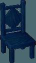 Dark blue chair