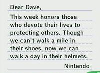 Guard helmet letter