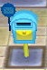 Mailbox - light blue