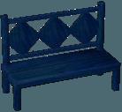 Dark blue bench