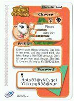 Back of Chevre's E-Reader Card