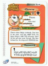 Back of Chevre's E-Reader Card