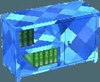 Sapphire blue bookcase