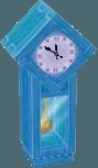 Light blue clock
