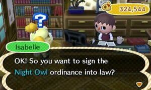 Choosing Night Owl Ordinance