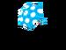 Umbrella blue dot parasol