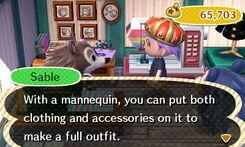Sable Describes A Mannequin