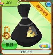 Shop Fire-Pot Black
