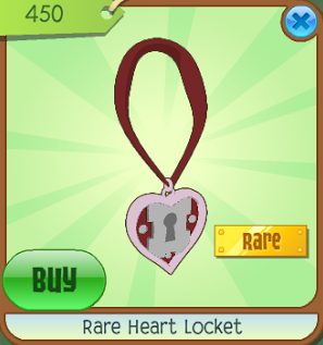 Image result for animal jam rare heart locket