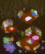Bunny burrow panorama