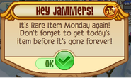Rare monday notice
