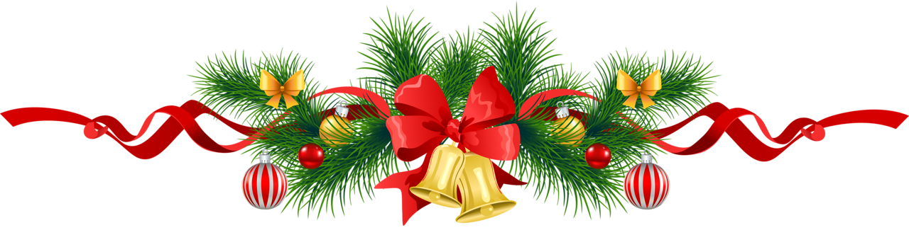 Image transparent christmas pine garland with gold bells clipart png