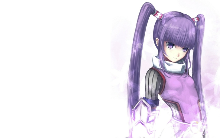 Amazing Image Video Games Rpg Long Hair Purple Hair Twintails Purple Short Hairstyles Gunalazisus