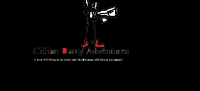 Cillian Darcy Adventures Logo and with taglines