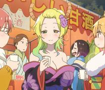 Drunk Lucoa New Year Stitched Cap (Miss Kobayashi's Dragon Maid Ep 11)