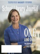 SLJ School Library Journal cover March 2013 k a applegate one and only ivan