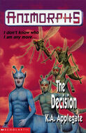Animorphs 18 the decision UK cover earlier