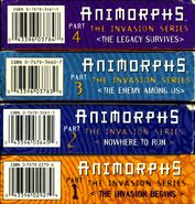 US VHS all four top spines