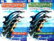 Animorphs 4 the message Bức thông điệp vietnamese covers books 7 and 8