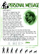 Animorphs Alliance Flash issue 7 Personal Message Jake