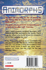 Animorphs 16 the warning UK back cover