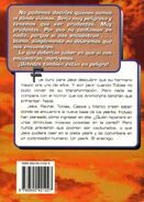 Animorphs 6 the capture La Captura Spanish back cover Emece
