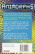 Animorphs reaction book 12 uk back cover