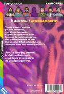 Alternamorphs the first journey Le Grand Voyage french back cover folio junior